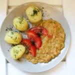Potrawka / sos z czerwonej soczewicy (wegański obiad)
