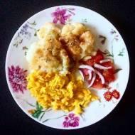 Kalafior z ryżem curry