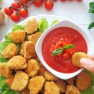 Pieczone nuggets z kurczaka z domowym ketchupem (Nuggets di pollo con ketchup artigianale)