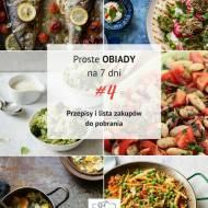 Proste obiady na 7 dni # 4 (PDF do pobrania)