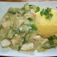 Zielone tajskie curry , wersja uproszczona