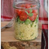 Ziolowy bulgur z bobem i pomidorami czyli Sloikowe sniadanie do pracy i nie tylko