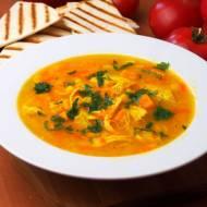 Zupa meksykańska z kurczakiem, kukurydzą i batatem