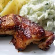 Udka kurczaka pieczone w musztardzie i sosie sojowym