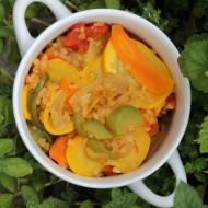 delikatna kasza z warzywami