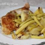 Kurczak pieczony na ziemniakach