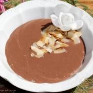 Czekoladowo-bananowo-kokosowy pudding z kaszy manny (bez cukru)