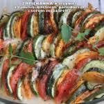 Zapiekanka warzywna z cukinią, batatem, pomidorem i serem mozzarella