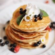 Owsiane pancakes na jogurcie | bez laktozy |