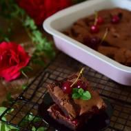 Miętowo-czekoladowe brownie z wiśniami
