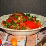 Potrawka z bobu, papryki i chorizo