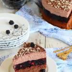 Ciasto jeżynowe z musem czekoladowym