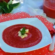 Arbuzowo-truskawkowy chłodnik z serem feta