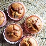 Muffinki bananowe z orzechami