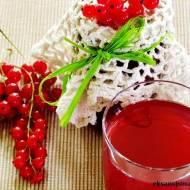 Syrop z czerwonych porzeczek pyszny sok na zimę