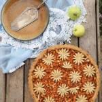 Orkiszowa tarta z jabłkami