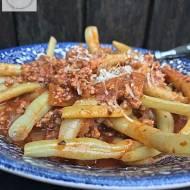Fasolka szparagowa z pysznym sosem pomidorowym