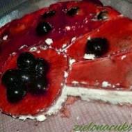 Sernik z Ricottą i Wiśniami na ciastkach