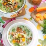 Kwaśna zupa kurkowa na wędzonce