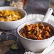 Gulasz z karkówką i cukinią / Pork and zucchini stew