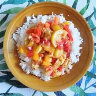 Leczo warzywne z kurczakiem i ryżem