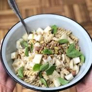 Świderki w sosie gorgonzola z gruszką