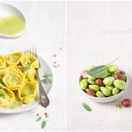 Tortellini z bobem w sosie ogórkowo-cytrynowym / Tortellini with broad beans in a cucumber-lemon sauce