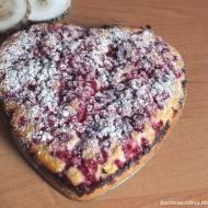 Ciasto maślankowe z czerwoną porzeczką
