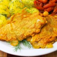 Ryba / dorsz w cieście curry