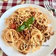 spaghetti z mięsem mielonym wołowym (bolognese)