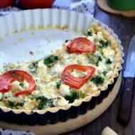 Tarta z brokułem i serem feta