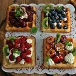 Belgijskie gofry z owocami