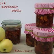 Jabłka w słoiczkach w bursztynowym karmelu, czyli konfitura  na zimę