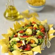 Meksykańska sałatka z nachos