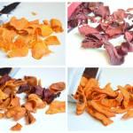 Zdrowe chipsy - z batata, marchewki, buraka, miks warzywny :)