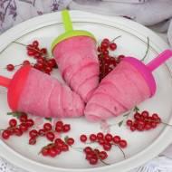 Lody z czerwonej porzeczki na jogurcie naturalnym.