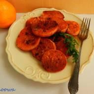Bataty pieczone w soku pomarańczowym
