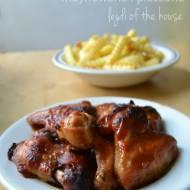 Klejące skrzydełka z kurczaka - marynowane i pieczone...