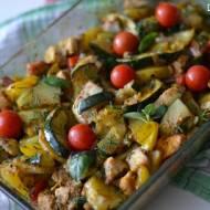 Zapiekane warzywa z kurczakiem