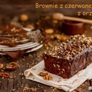 Bezglutenowe brownie z czerwonej fasoli z orzechami