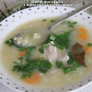 Zupa warzywna z kalarepą i kaszą jaglaną