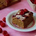 Ciasto razowe z malinami
