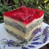 Ciasto makowe z malinami i kremem/Makowa Panienka