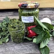 Pesto pietruszkowo – miętowe, przepis przetwory 2018