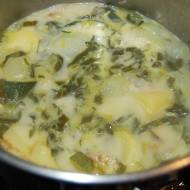 Zupa z cukinii i kalarepki