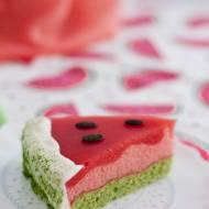 Bezglutenowe ciasto z arbuzem – arbuzowa pianka bez cukru