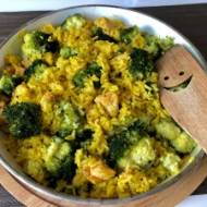 Kremowe risotto z kurczakiem i brokułem