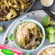 Szybka wołowina z brokułami (7 składników)