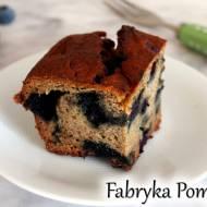 Serowe ciasto z borówkami