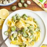 Cytrynowy makaron z bobem (4 składniki)